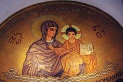 Chiesa di Hagia Maria Sion Abbey in Monte Sion Gerusalemme, Israele Fotografia Stock