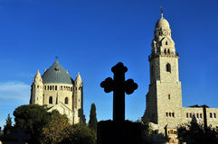 Chiesa di Hagia Maria Sion Abbey in Monte Sion Gerusalemme, Israele Immagini Stock