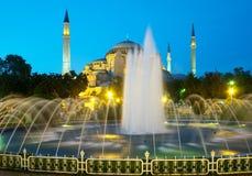Chiesa di Hagia Sophia a Costantinopoli immagini stock libere da diritti