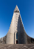 Chiesa di Hallgrimskirkja a Reykjavik, Islanda Immagini Stock Libere da Diritti
