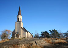Chiesa di Hanko in Finlandia Fotografie Stock Libere da Diritti