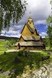 Chiesa di Heddal con Threes Fotografia Stock Libera da Diritti