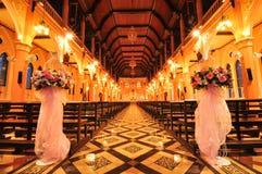 Chiesa di Interrior in Tailandia Immagine Stock Libera da Diritti