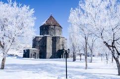 Chiesa di inverno (4 stagione Kars) fotografie stock libere da diritti