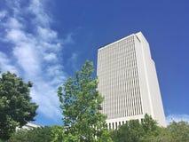 Chiesa di Jesus Christ dell'edificio per uffici posteriore dei san di giorno a Salt Lake City Utah fotografia stock