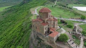 Chiesa di Jvari: Bello monastero ortodosso georgiano del VI secolo video d archivio