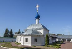 Chiesa di Kazan con i reparti di ospedale Via di Moskovskaya, Pereslavl-Zalessky, regione di Yaroslavl Federazione Russa fotografia stock