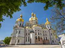 Chiesa di Kiev famosa Pechersk Lavra Monastery fotografie stock libere da diritti