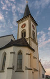 Chiesa di Kirchdorf del villaggio di Busskirch in Rapperswil-Jona, st gallone fotografia stock
