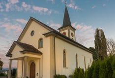 Chiesa di Kirchdorf del villaggio di Busskirch in Rapperswil-Jona, st gallone Fotografie Stock Libere da Diritti