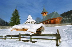 Chiesa di legno Fotografie Stock Libere da Diritti