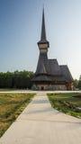 Chiesa di legno alta Fotografie Stock