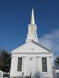Chiesa di legno bianca Fotografie Stock Libere da Diritti