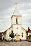 Chiesa di legno bianca Immagini Stock