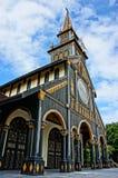 Chiesa di legno di Kontum, cattedrale antica, eredità Immagini Stock Libere da Diritti