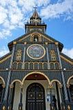 Chiesa di legno di Kontum, cattedrale antica, eredità Immagine Stock Libera da Diritti