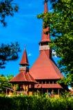 Chiesa di legno di Maramures della replica Immagini Stock Libere da Diritti