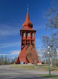 Chiesa di legno a Kiruna fotografia stock libera da diritti