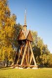 Chiesa di legno in Kvikkokk, Svezia del Nord immagine stock libera da diritti