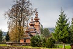 Chiesa di legno in Kwiaton, Polonia Fotografia Stock Libera da Diritti