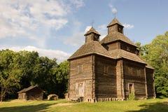Chiesa di legno nel parco Fotografia Stock Libera da Diritti