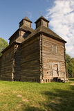 Chiesa di legno nel parco Fotografia Stock