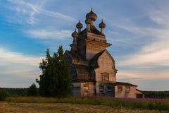 Chiesa di legno ortodossa Fotografia Stock