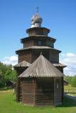 Chiesa di legno russa Fotografia Stock Libera da Diritti
