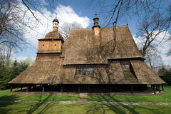 Chiesa di legno in Sekowa, Polonia Fotografia Stock Libera da Diritti