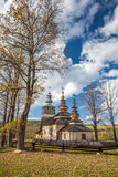 Chiesa di legno in Swiatkowa Mala, Polonia Fotografia Stock Libera da Diritti