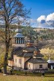 Chiesa di legno in Swiatkowa Mala, Polonia Immagini Stock Libere da Diritti