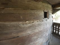 Chiesa di legno, villaggio di Jercălăi, il distretto di Prahova Fotografia Stock