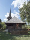Chiesa di legno, villaggio di Jercălăi, il distretto di Prahova Immagine Stock