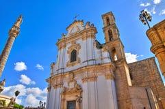 Chiesa di madre della st Andrea. Presicce. La Puglia. L'Italia. Immagine Stock Libera da Diritti