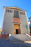 Chiesa di madre di Satriano di Lucania L'Italia Immagine Stock