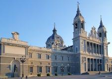 Chiesa di Madrid della cattedrale di Almudena Immagini Stock