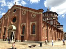 Chiesa di Maria santo di tolleranza, la casa del ` s di da Vinci l'ultima cena Fotografia Stock