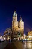 Chiesa di Mariacki, chiesa della nostra signora Cracovia, Polonia Immagini Stock Libere da Diritti