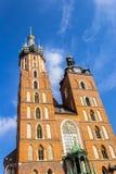Chiesa di Mariacki, Cracovia, Polonia, Europa Immagine Stock Libera da Diritti