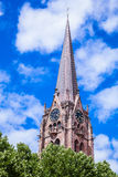 Chiesa di MartinsKirche a Kaiserslautern Fotografie Stock