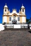 Chiesa di Matriz de Santo Antonio dei gerais Brasile del Minas dei tiradentes Fotografia Stock Libera da Diritti