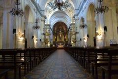Chiesa di Matriz nella vecchia città Immagine Stock