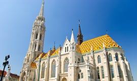 Chiesa di Matthias a Budapest, Ungheria Fotografia Stock Libera da Diritti