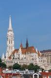 Chiesa di Matthias e paesaggio urbano di Budapest delle torri del pescatore Fotografia Stock