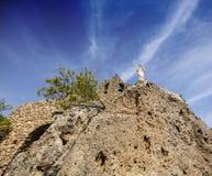 Chiesa di Mijas Spagna fotografia stock libera da diritti