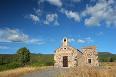 Chiesa di montagna. A small church in the nature Stock Photography