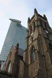 Chiesa di Montreal, vecchio e nuovo Fotografia Stock Libera da Diritti