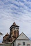Chiesa di Mosna nella Transilvania Immagini Stock