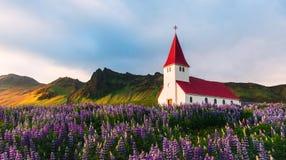 Chiesa di Myrdal Immagini Stock