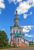 Chiesa di natività, Totma, Russia fotografia stock libera da diritti
